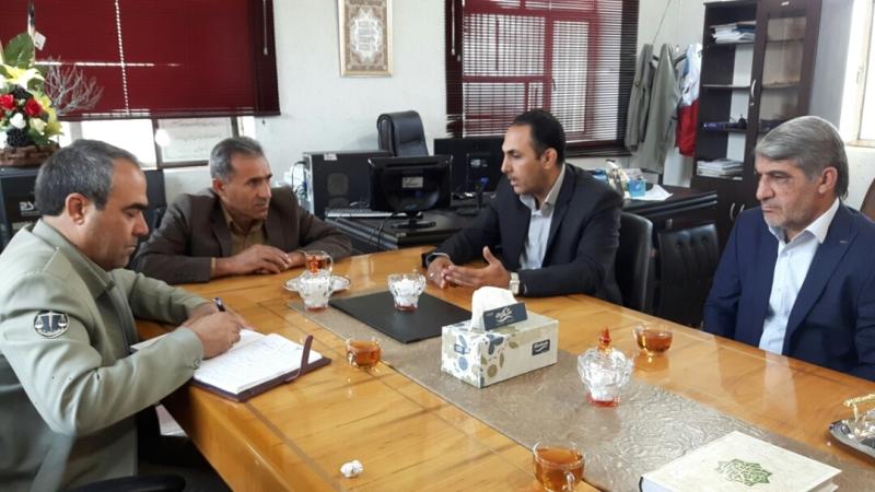 دیدار مدیرکل حفاظت محیط زیست کهگیلویه وبویراحمد با فرماندار چرام درروز محیط بان