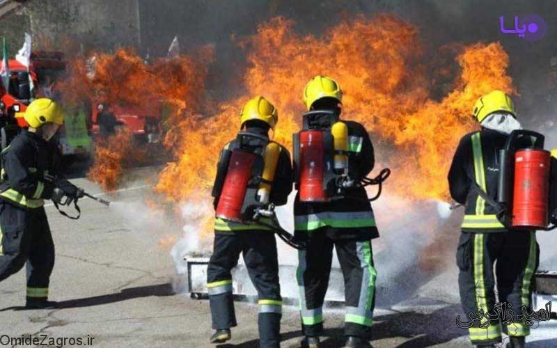 آتش سوزی جمعه بازار یاسوج مهار شد + تصاویر