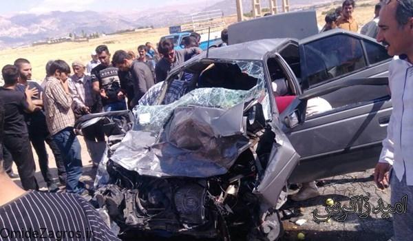 تصادف مرگبارکمربندی یاسوج -اصفهان با 4 کشته + تصاویر