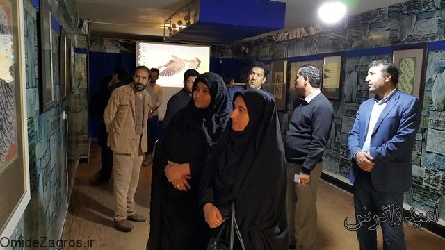 نمایشگاه آثار خوشنویسی زنده یاد سید مسلم خادمی در یاسوج برپا شد + تصاویر