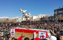 مراسم تشییع پیکر شهید حادثه تروریستی چابهار در یاسوج (+تصاویر)