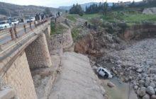 سقوط پراید از پل جان جوان چرامی را گرفت (+ عکس)