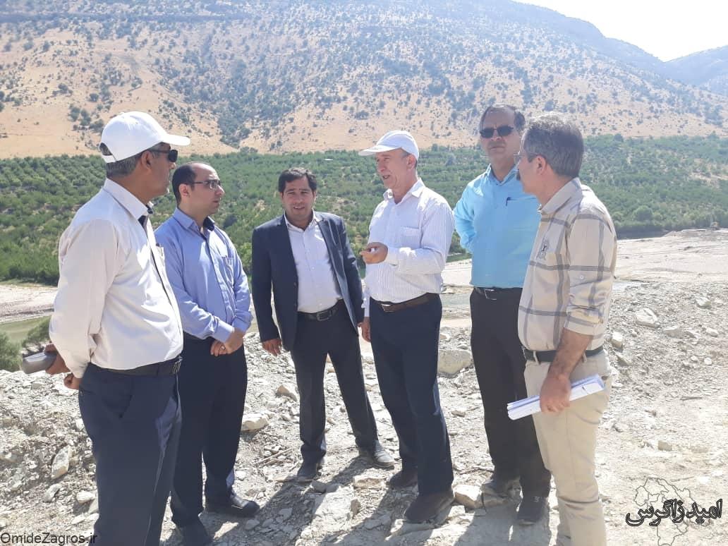 بازدید مسئول کشوری از سد تنگ سرخ یاسوج/ هاشمی: پیشرفت سد تنگ سرخ مورد رضایت است (+ تصاویر)