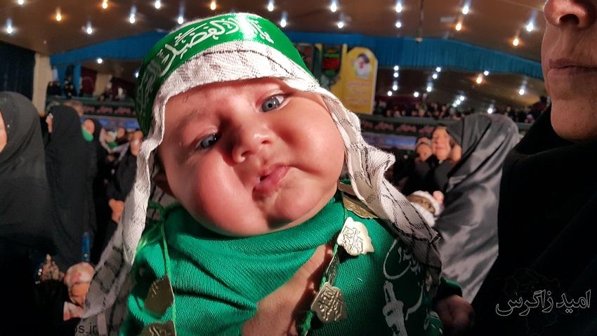 طنین لالایی جانسوز شیرخوارگان حسینی در یاسوج (+ تصاویر)