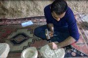 از دیشموک تا عصر جدید/هنرمندی که سنگ سخت را به نقش و نگار بدل می کند (+ تصاویر)